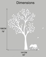 New arrival Fawn Tree Wall Decal White Tree Decal Classic Baby Nursery Room Decor Art Stickers Large Size 198x141CM
