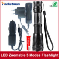 E17 CREE XM-L t6 4000 lumens led flashlight torch adjustable lights & lighting torch for AAA and 18650 battery Rechargeable
