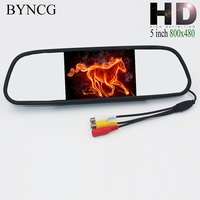 New Univeral Car Rear View Mirror Monitor 5 4 3 Inch Color TFT LCD Parking 4