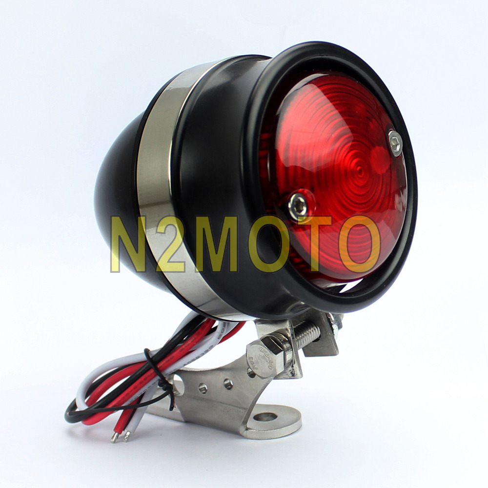 Mini LED Motorrad Rücklicht mit Aluminiumgehäuse Chopper Bobberstyle Stopplicht