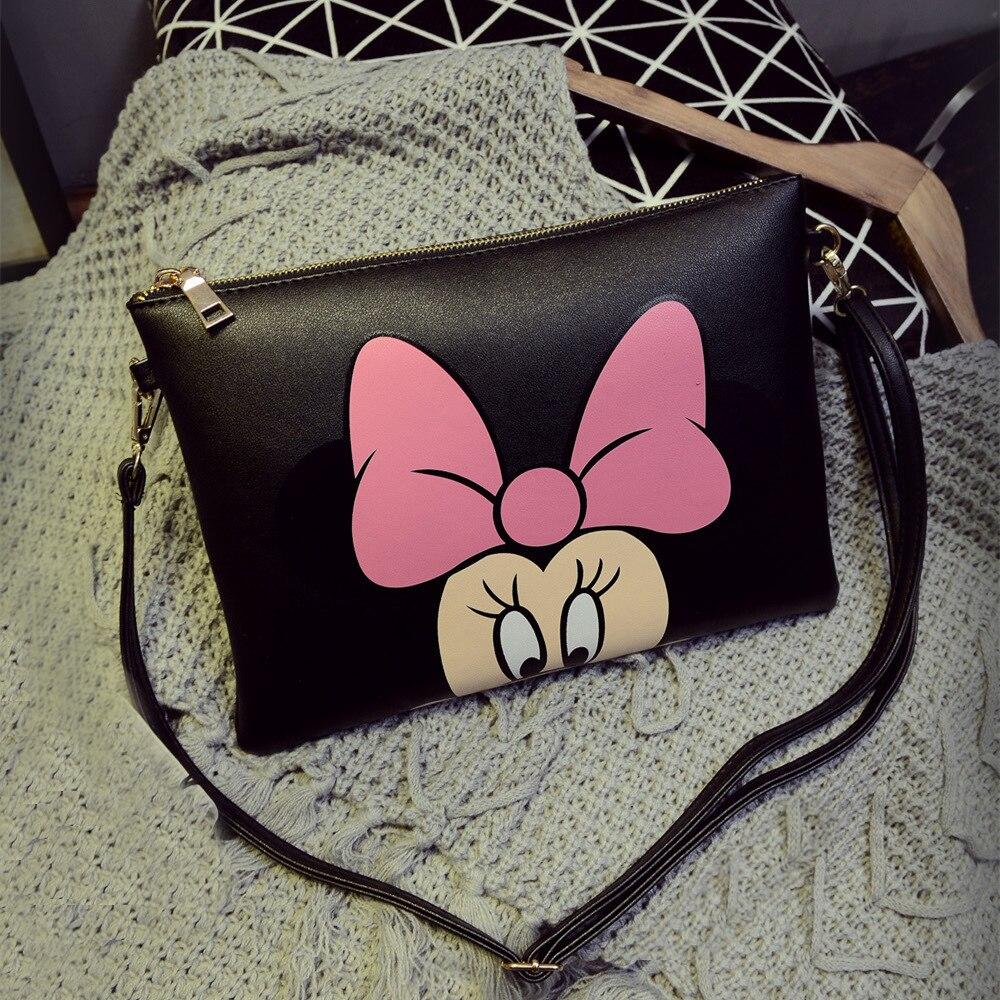 Fashion Women Messenger Bags Mickey Clutch Bag Minnie Women Leather Handbag Bolsa Feminina Bolsas mochila carteira sac a main