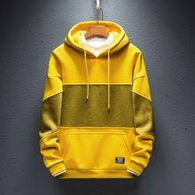 Zogaa Sweatshirts Mens 2019 Autumn New 4 Color Hooded Pullover Tide Brand Korean Version Patchwork Hoodies