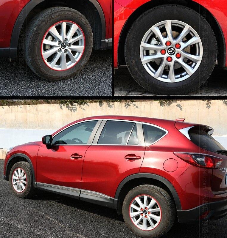 Auto wheel rim screw cap and sticker for Mazda 3, 6,cx-5 2013 2014 2015,20pcs wheel cap and 1 role wheel sticker. mannequin