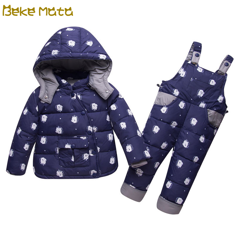 BEKE MATA Baby Winter Coats Girls Set 2018 Thick Warm Kids Down Jacket Boys Toddler Girl Clothing Set Coat+Pant Snowsuit Clothes крючок адгезивный tatkraft funny cats 18211