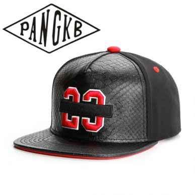 428aeec433b PANGKB Brand BANNED CAP Black Leather cotton 23 snapback hat hip hop  Headwear men women adult
