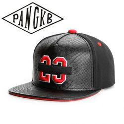 PANGKB Brand BANNED CAP Black Leather cotton 23 snapback hat hip hop Headwear men women adult outdoor casual sun baseball cap
