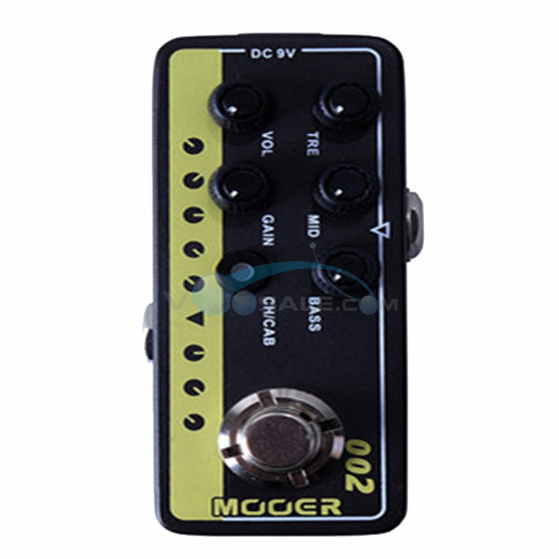 Mooer 002 UK Gold 900 Guitar Effect Pedal High Quality Dual Channel Preamp Delay and Reverb with True Bypass suck uk