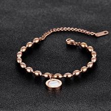 Fashionable titanium steel Rome digital Rose Gold Bracelet Black and white lady's Bracelet ladies necklace necklace choker сумка rose rome dualyunnan 2015