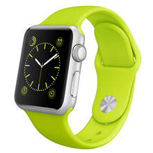 Fashion sport soft silicone strap band for apple watch 42mm 38mm bracelet watchband for apple watch