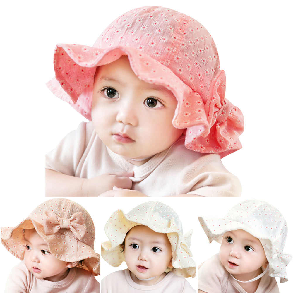 c447b0d8 ... Baby Girl Pink Bucket Hat Toddler Infant Sun Cap Summer Outdoor Baby  Girl Summer Hat Bucket ...