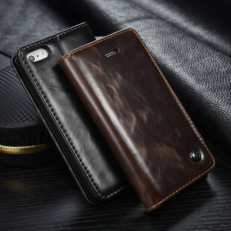 Leather <font><b>Case</b></font> For iPhone 6 6S Plus <font><b>Case</b></font> Magnetic Card Wallet Cover For <font><b>Samsung</b></font> Galaxy S6 Edge Plus <font><b>Note</b></font> <font><b>5</b></font> <font><b>Flip</b></font> Phone <font><b>Case</b></font> image