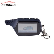 A91 2-way LCD Remote Control Key Chain For Russian Version Vehicle Security Two