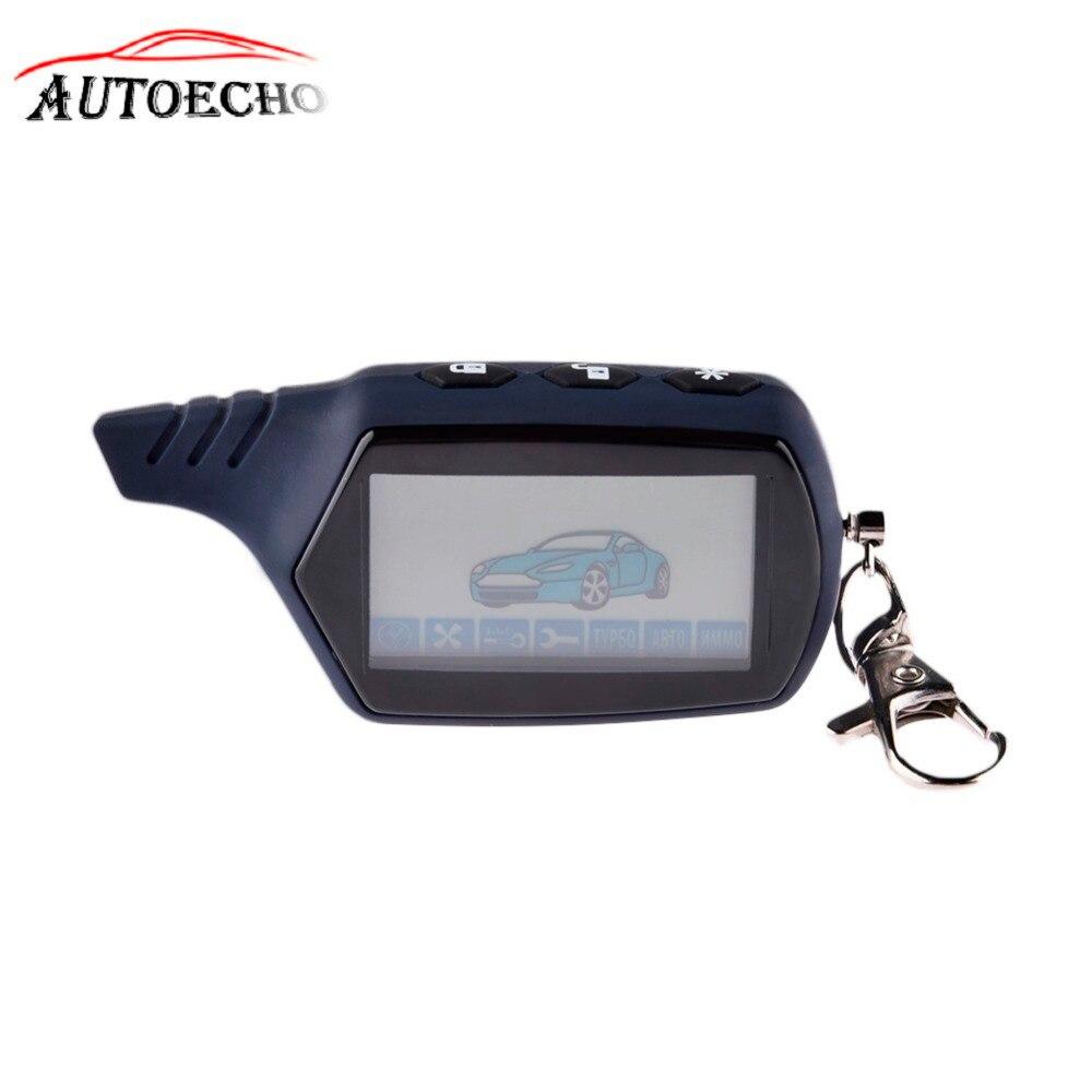 Anti-theft System A91 LCD Fernbedienung Für 2 Weg Auto Alarm Starline 91 Motor Starter Fob Keychain/ lcd Körper Remote