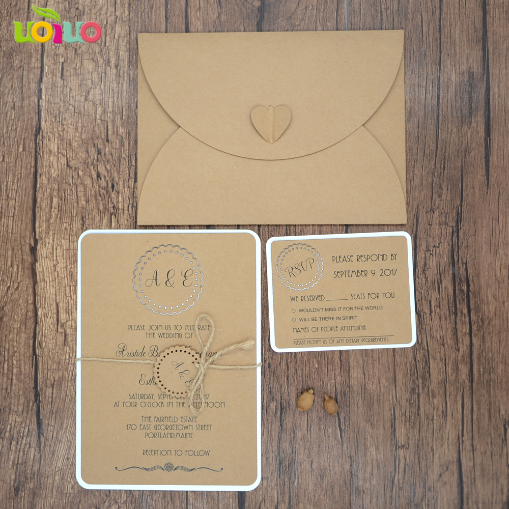 Best salelaser cut various colors and sizes kraft paper wedding
