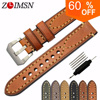 2016 PROMOTIONAL New Men 20 22 24mm 100 Italy Genuine Leather Watch Band Strap
