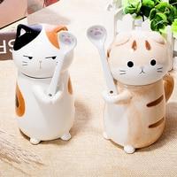 ceramic creative Cartoon dog cat Tea coffee mug animal milk mug home decor crafts decoration porcelain figurine handicraft gifts
