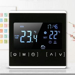 Image 3 - LCD Touch Screen Thermostat Electric Floor Heating System Water Heating Thermoregulator AC85 240V Temperature Controller 110V 22