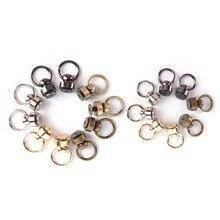 Ring Tongs-Snap-Hook Bag-Parts--Accessories Handmade Black Buckle Screws Luggage-Bag