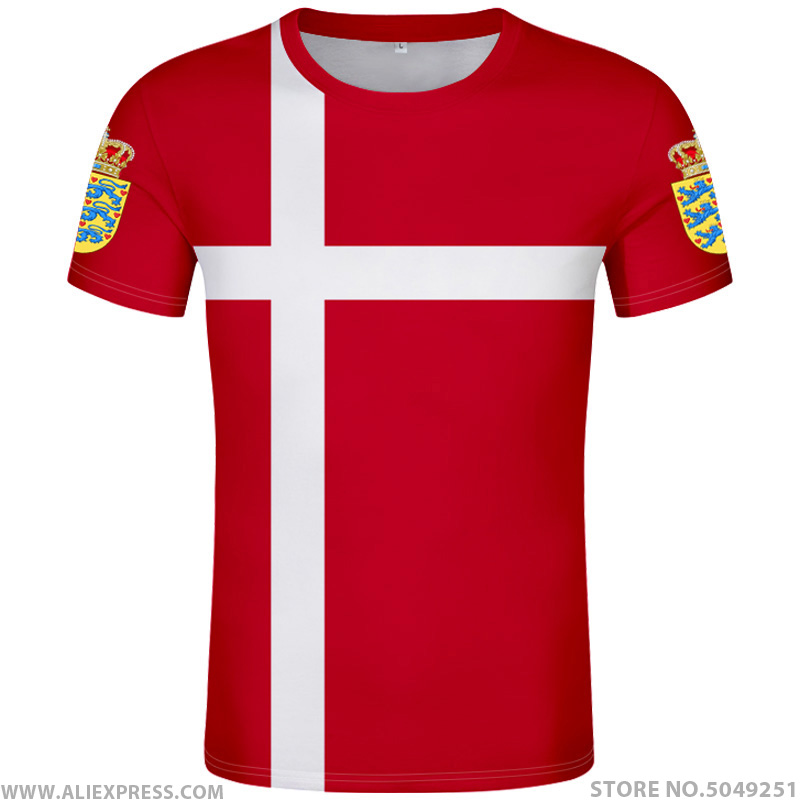DENMARK T Shirt Logo Free Custom Made Name Number Dnk T-shirt Nation Flag Danish Kingdom Country Danmark Dk Print Photo Clothing