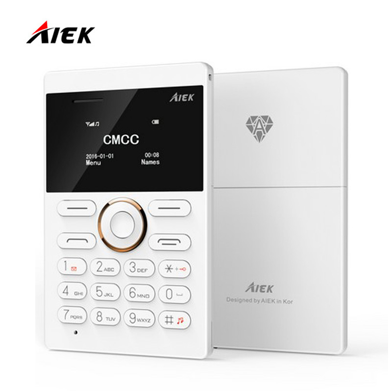 New arrival Ultra Thin AIEK AEKU E1 Mini Cell Card Phone Student unlocked Mobile Phone Pocket