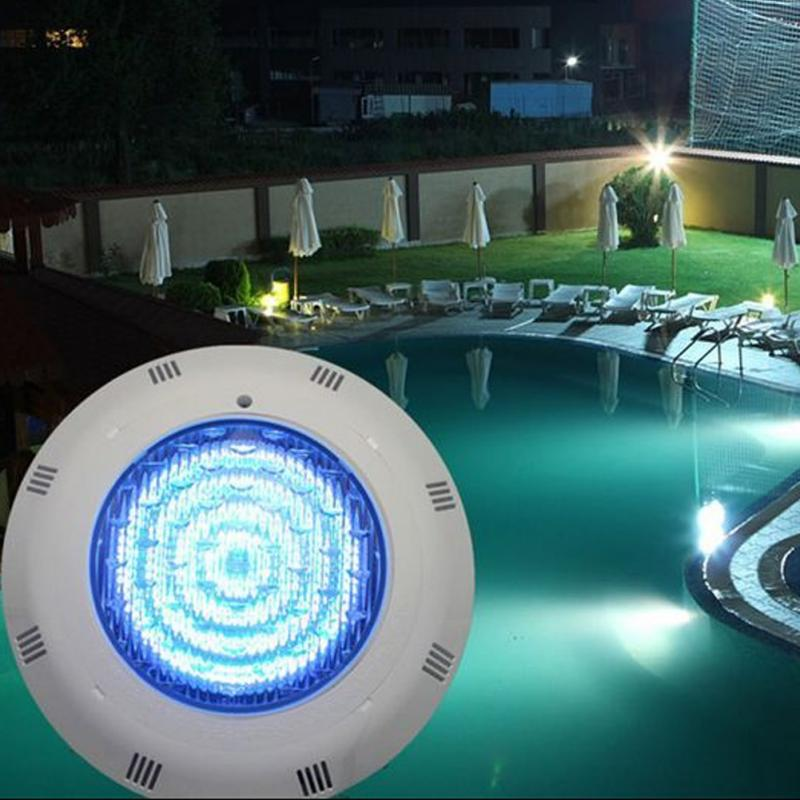 Led Rope Light For Swimming Pool: 558 LED RGB 5 Colors 12V Wall Mounted Pool Lights