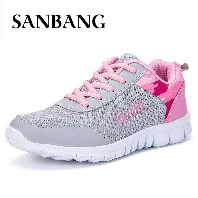 aa829a49635 Cuatro zapatos de tenis de mujer de malla todo-fósforo baratos y cómodos  zapatos transpirables
