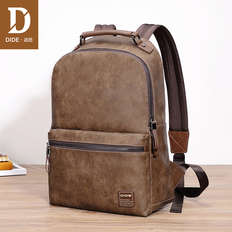 Dide School Backpack Men Laptop Backpacks For Teenager Male Preppy Style Schoolbag Casual Travel Backpack Waterproof Leather