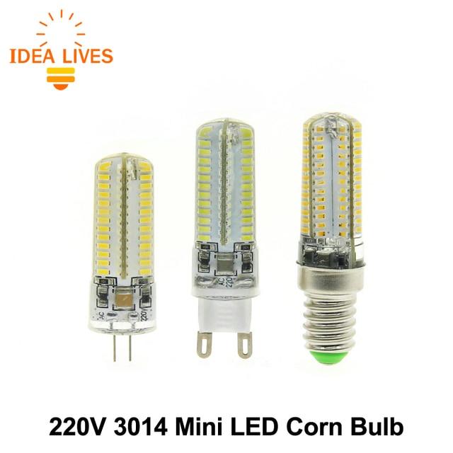 LED Corn Bulb 220V E14 / G9 / G4 3014 Silica Gel LED Bulb 64LED / 104LED 10pcs/lot