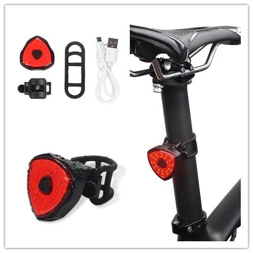 Multi Lighting Modes Bicycle Light USB Charge Led Bike Light Flash Tail Rear New