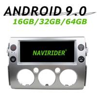 Высокая конфигурация Восьмиядерный Android 9,0 Автомобильный gps Мультимедиа для TOYOTA FJ cruiser 2007 17 автомобильный Радио bluetooth 64 Гб большая память
