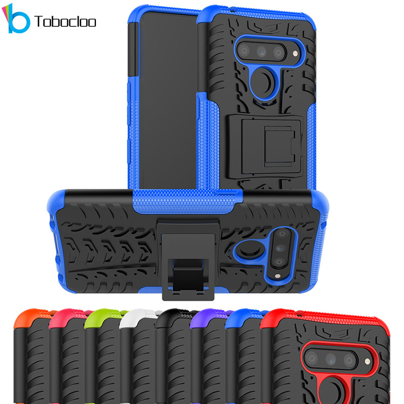 Armor 2 In 1 Case For LG G6 G7 G8 V20 V30 V40 V50 Q6 Q7 K40 Thinq Dual Layer Rugged Cover Full Protective Case Shockproof Shell