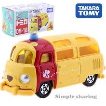TAKARA TOMY Tomica Disney Motor DM18 Worm'n Tokoh Anime Winnie Mainan Mobil Diecast Pop Model Kit Lucu Miniatur Mainan Anak