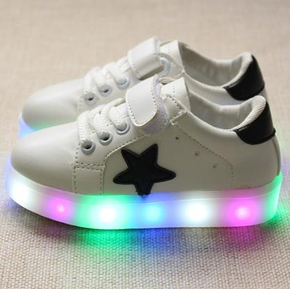 b9c1f6b9f8244 Girls shoes kids fashion leisure comfortable autumn bright basket Led boys  7 colour glowing sneakers children shoes with light 5-in Sneakers from  Mother   ...