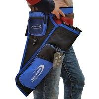 3 Tubes Blue Arrow Holder Quiver Bag Back Quiver For Targetting Outdoor Hunting
