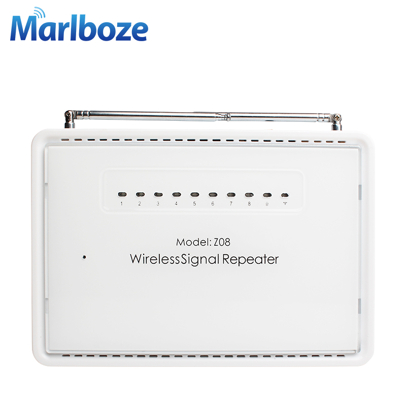 Marlboze 433mhz Wireless Signal Amplifier Repeater Signal Range Extender Enhance Sensor Signal Booster for Security Alarm System ce link 2020 hdmi repeater signal amplifier extender line driver 40 meters