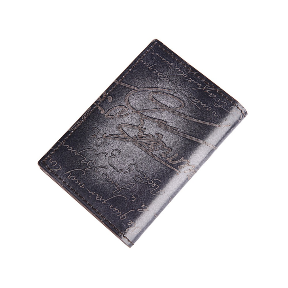 TERSE Wholesale price font b mens b font leather card holder with engraving luxury Italian genuine