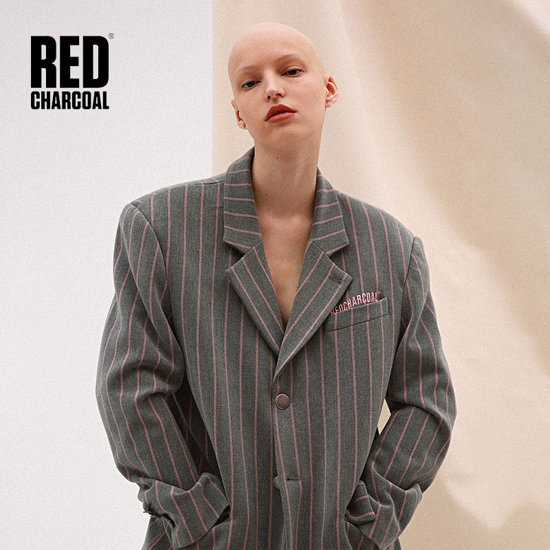 Red Charcoal 2018 S/S Striped Casual Suit Blazers