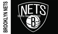 Brooklyn Nets Wordmark Flag  3×5 FT 150X90CM Banner 100D Polyester NBA flag 176,  free shipping