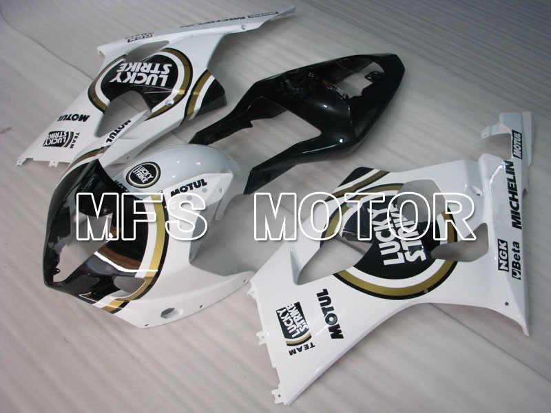 Белый черный подходит для мотоцикла для Suzuki gsx-r 1000 2003-2004 впрыск Пластиковый обтекатель LUCKY STRIKE Комплект кузова