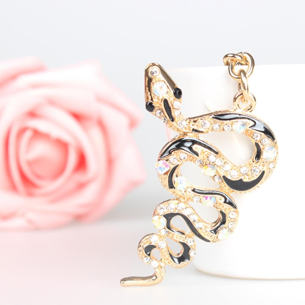 Leopard Lion Head Creative Charm Pendant Purse Bag Crystal Key Ring Chain Gift