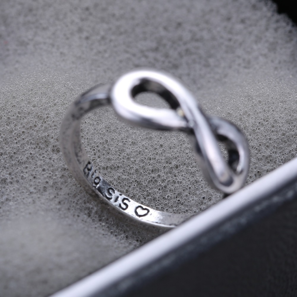 2pcs Cute couple ring bridesmaid gift unique ringS gift sister ...