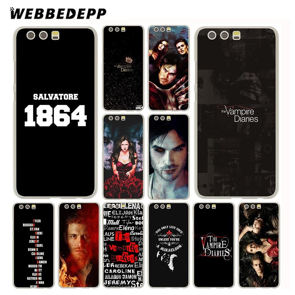 WEBBEDEPP The Vampire Diaries Case for Huawei P20 P10 P9 P8 P7 P smart Lite Mini Plus Pro & Nova 2 Plus 2s 2i 2 Lite ...