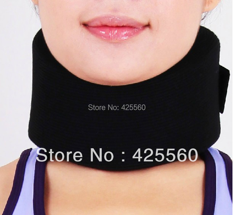 Adjustable Neck Support & Brace Foam Cervical Collar Wrap Stiff Neck Pain Relief Posture Corrector sport cotton wrist brace wrap support black