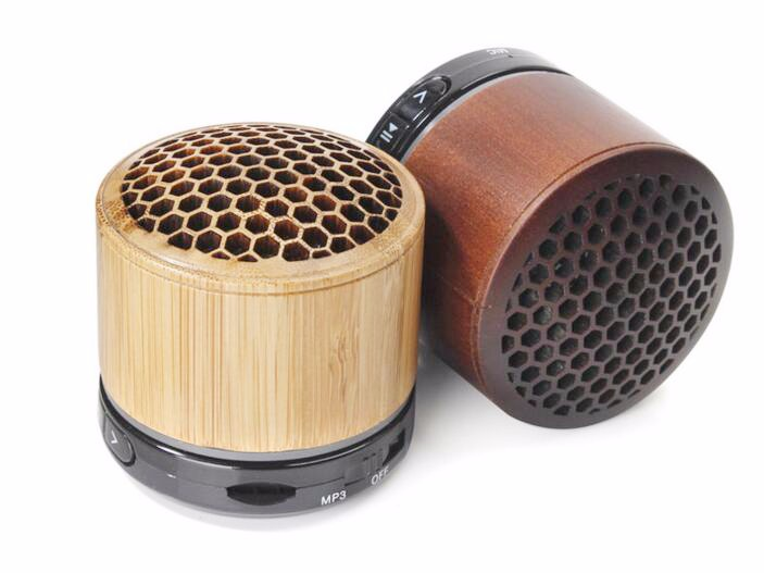 Wood Material Portable Mini Bluetooth Speaker 3W Stereo Sound Box Mp3 Player Subwoofer Speakers Built-In 500Mah Battery 2016