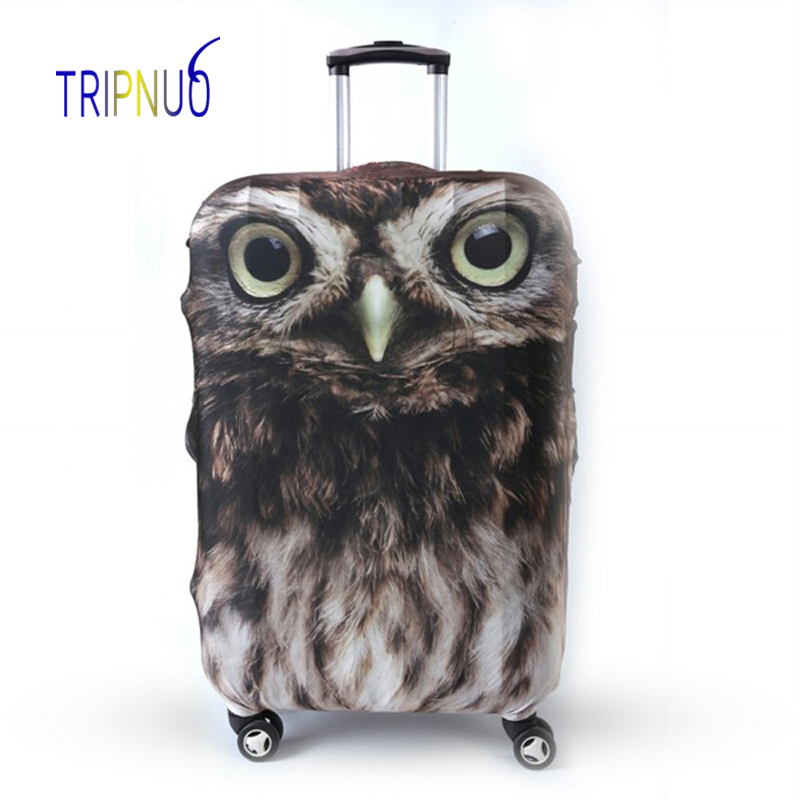 TRIPNUO Owl Cover for Suitcase Travel Elasticity Luggage Protective Covers Elastic Travel Accessories Trolley Cover
