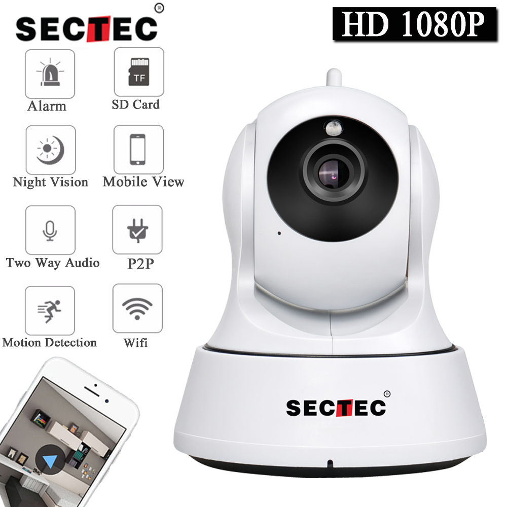 SECTEC 1080P Full HD Mini Wireless Wifi Camera Sucurity IP CCTV Camera Wifi Network Surveillance Smart IR CUT Night Vision Cam цена