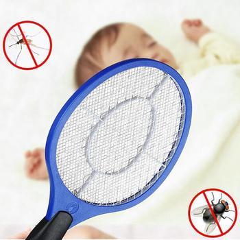 Ручная ракетка на батарейках, электрическая ловушка для комаров, насекомых, насекомых