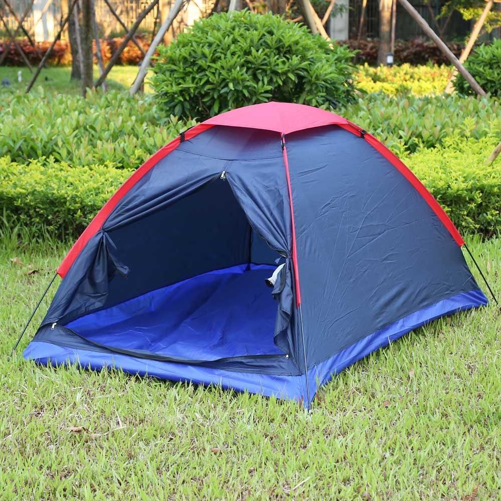 Two Person Water Resistance Outdoor Camping Tent Kit Professional Fiberglass Pole Tent With Carry Bag For Hiking Traveling two person tent outdoor camping tent kit fiberglass pole water resistance with carry bag for hiking traveling 200x120x110cm