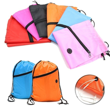 5 Colors Portable Waterproof Nylon Shoe font b Bags b font font b Drawstring b font