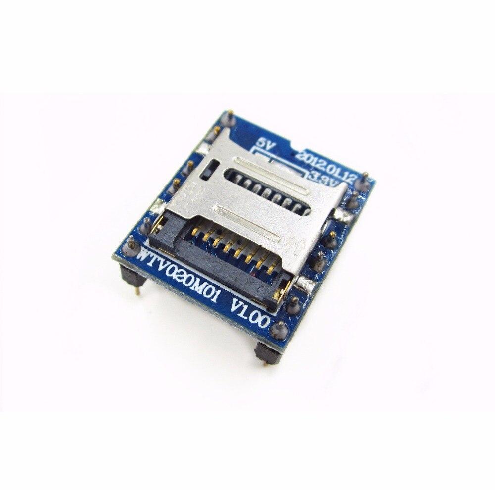 1PCS/LOT WTV020 WTV020-SD WTV020SD-20SS Mini SD Card MP3 Sound Module For PIC WTV020-SD-16P